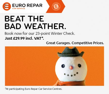 PREPARE YOUR CAR WITH A £29.99 WINTER CHECK