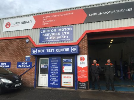 CHIRTON MOTOR SERVICES GOES FROM STRENGTH TO STRENGTH AS A EURO REPAR CAR SERVICE CENTRE.