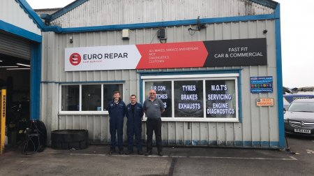 FAST FIT CAR & COMMERCIAL LTD IS NOW AN OFFICIAL PARTNER OF THE EURO REPAR CAR SERVICE NETWORK.